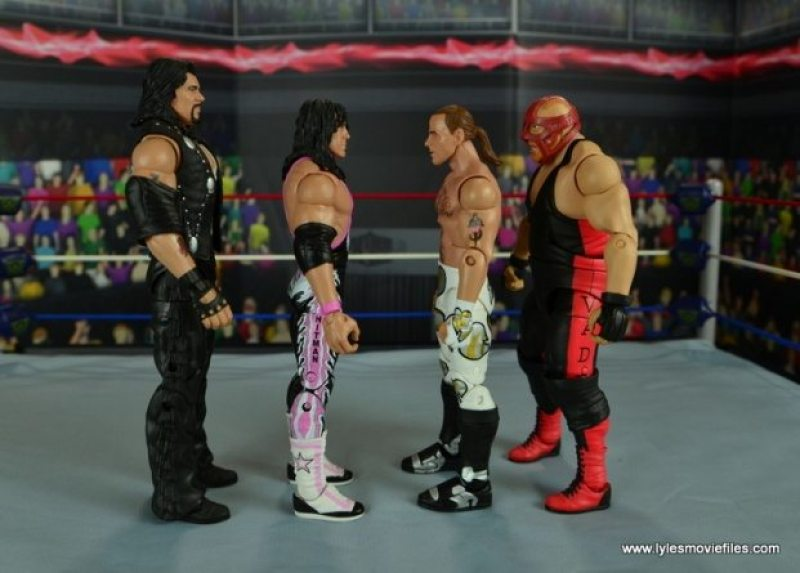 WWE Wrestlemania 12 Elite Shawn Michaels figure review -scale with Diesel, Bret Hart and Vader