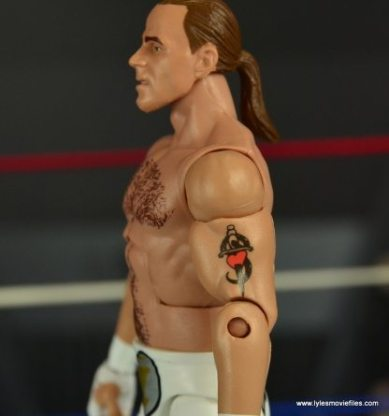 WWE Wrestlemania 12 Elite Shawn Michaels figure review -tattoo detail