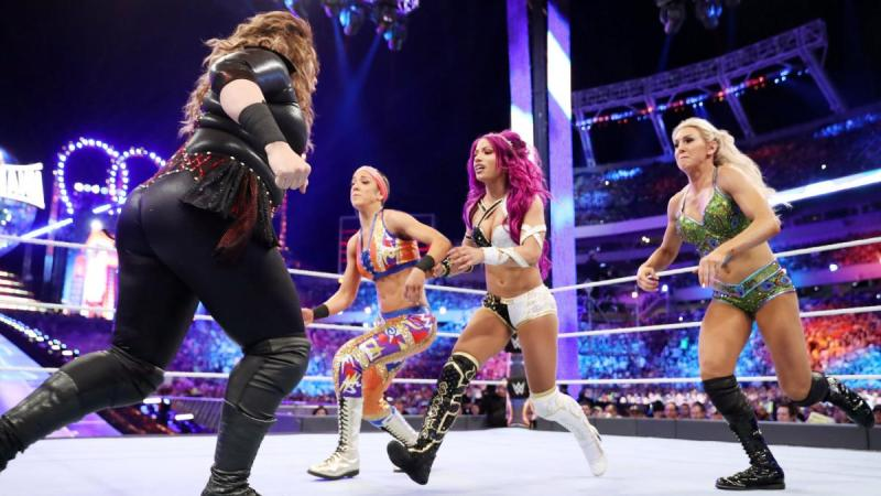 Wrestlemania 33 - Nia Jax vs Bayley vs Sasha Banks vs Charlotte Flair