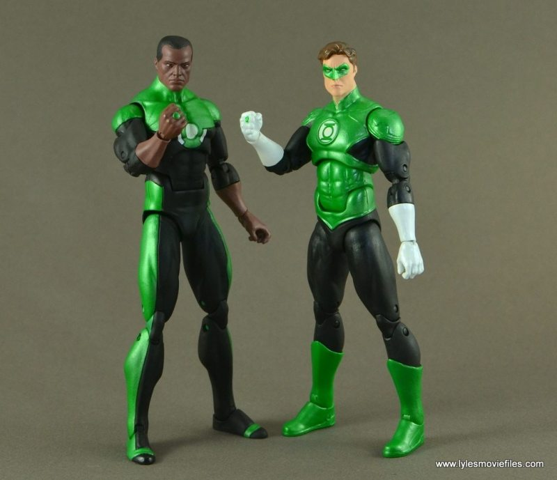 DC Icons John Stewart figure review - hanging with Hal