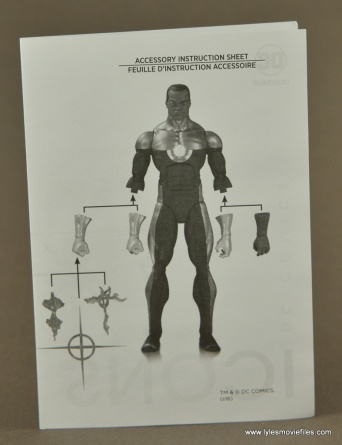 DC Icons John Stewart figure review - instructions