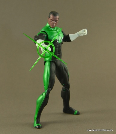 DC Icons John Stewart figure review - ring burst effect