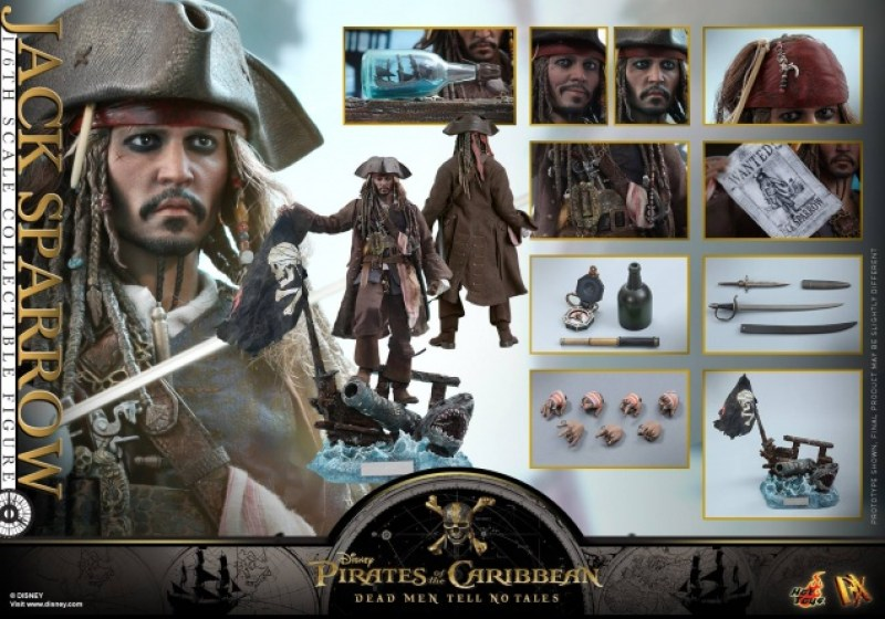 Hot Toys Capt Jack Sparrow figure -collage