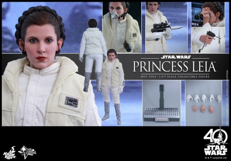 Hot Toys Princess Leia Hoth figure - collage