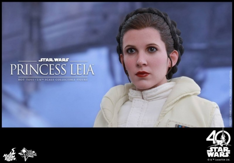 Hot Toys Princess Leia Hoth figure -looking up