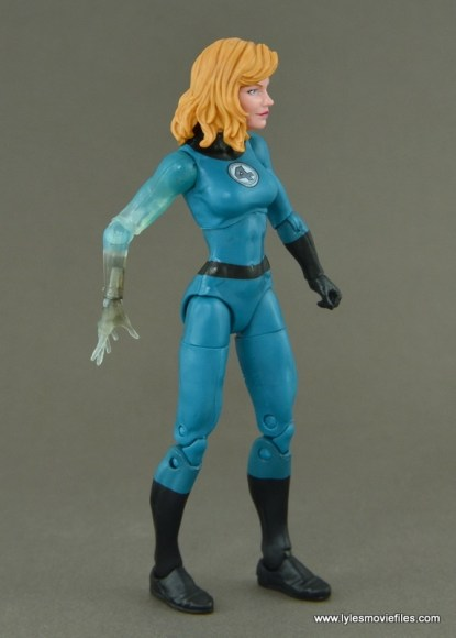 Marvel Legends Invisible Woman figure review -right side