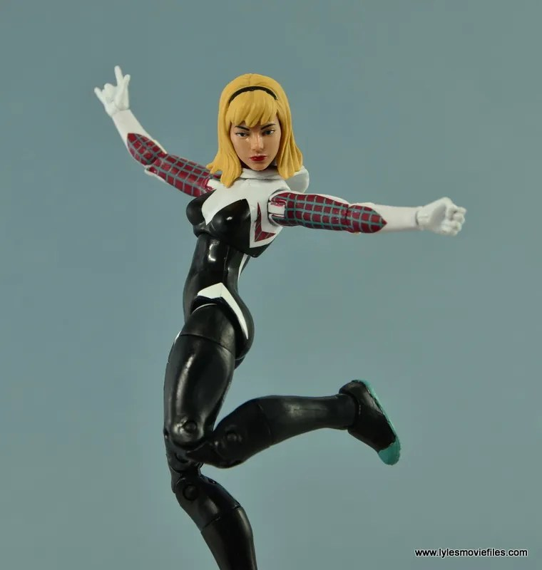 Marvel Legends Spider-Gwen figure review - Gwen dancing