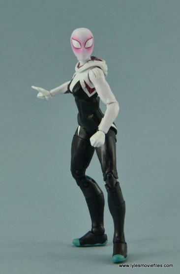 Marvel Legends Spider-Gwen figure review - hood down