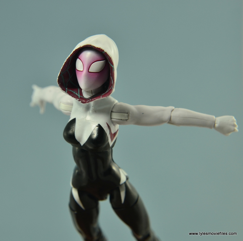 Marvel Legends Spider-Gwen figure review - leaping