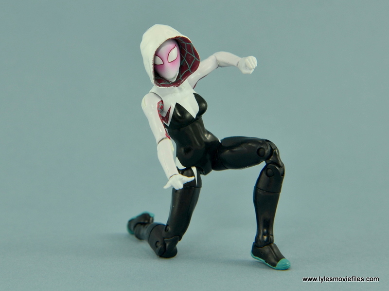 Marvel Legends Spider-Gwen figure review - on one knee