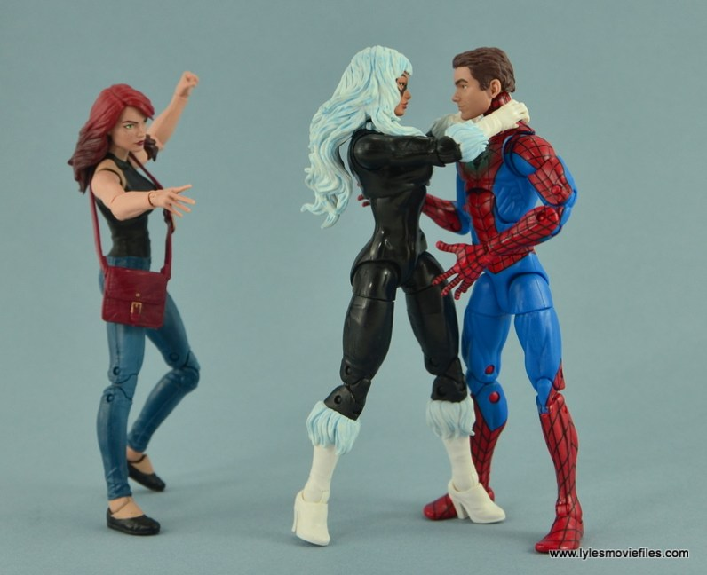Marvel Legends Spider-Man and Mary Jane Watson figure review - MJ about to smack Black Cat