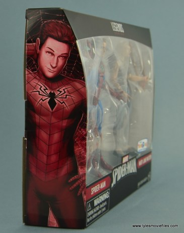 Marvel Legends Spider-Man and Mary Jane Watson figure review - package Peter side