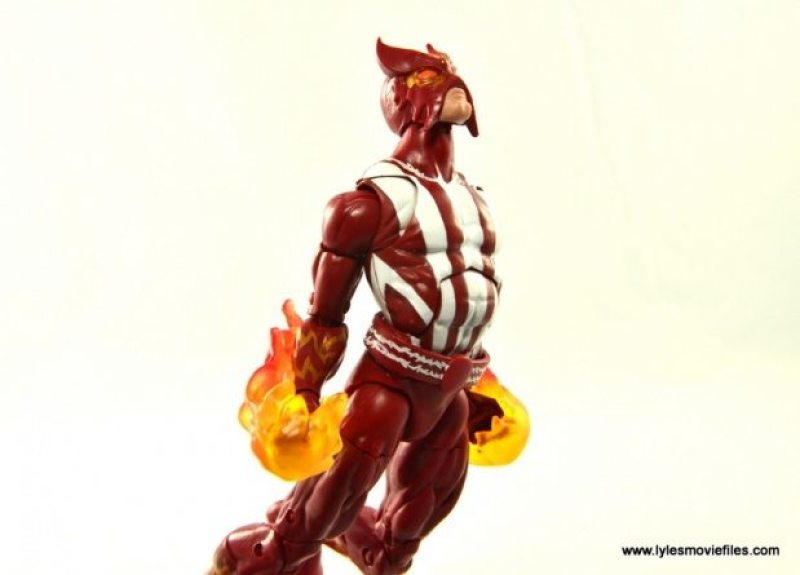 Marvel Legends Sunfire figure review -lifting off