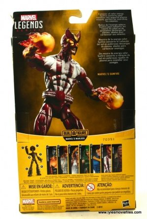 Marvel Legends Sunfire figure review -package rear