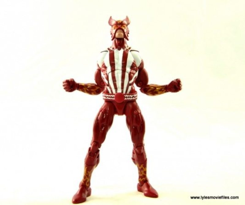 Marvel Legends Sunfire figure review -powering up