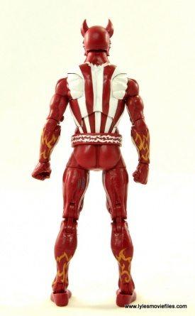 Marvel Legends Sunfire figure review -rear
