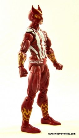 Marvel Legends Sunfire figure review - right side