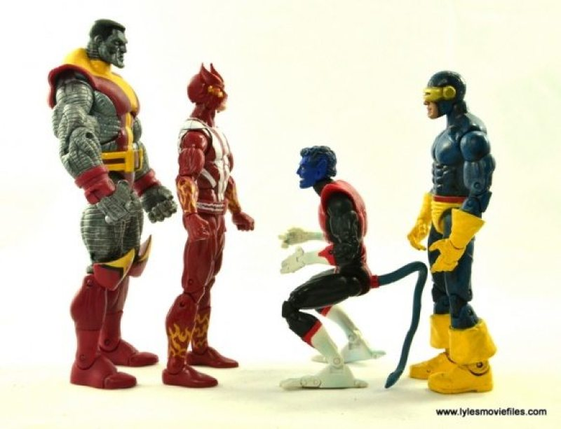 Marvel Legends Sunfire figure review -scale with Colossus, Nightcrawler and Cyclops