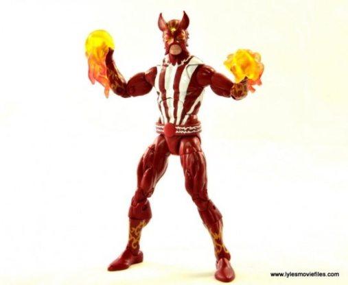 Marvel Legends Sunfire figure review -with fireballs