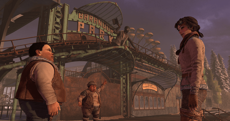 Syberia 3 - Baranour Park Entrance Kate Walker