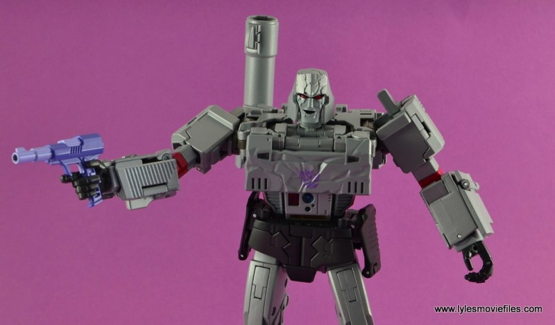 Transformers Masterpiece Megatron figure review -battle damaged with blaster