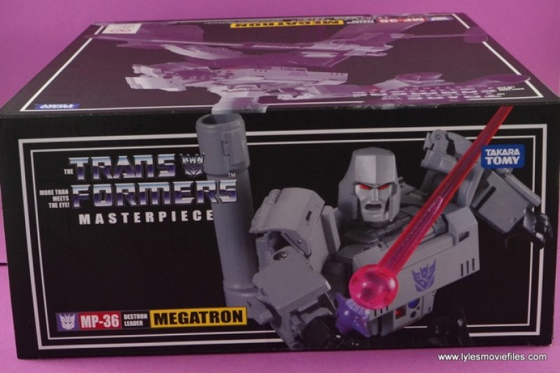 Transformers Masterpiece Megatron figure review -package top