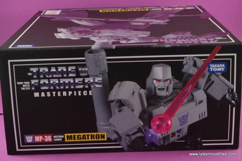 Transformers Masterpiece Megatron figure review -package top