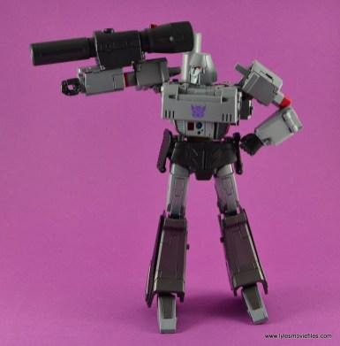 Transformers Masterpiece Megatron figure review -side shot of cannon