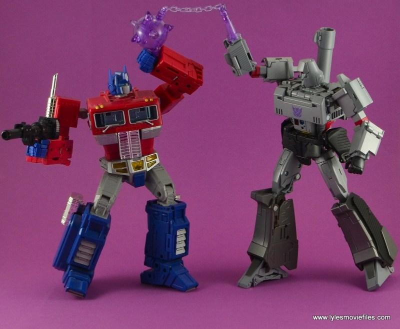 Transformers Masterpiece Megatron figure review -vs Optimus Prime
