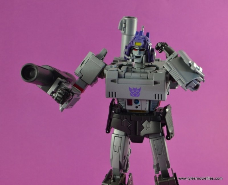 Transformers Masterpiece Megatron figure review - with helmet on