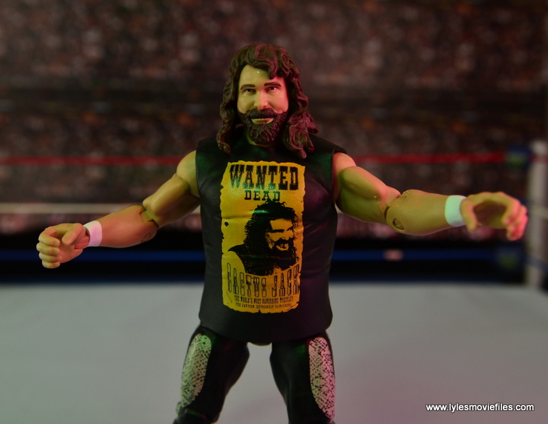WWE Elite 48 Cactus Jack figure review -arms out