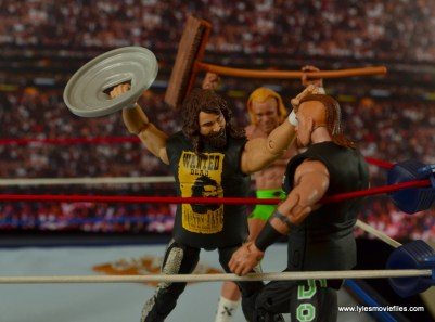 WWE Elite 48 Cactus Jack figure review -attacking Road Dogg