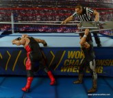 WWE Elite 48 Cactus Jack figure review -attacking Vader with chair