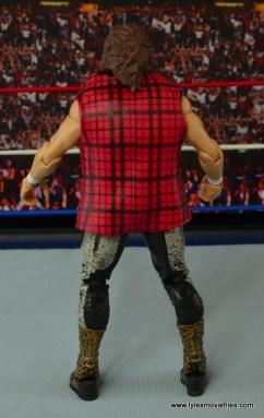 WWE Elite 48 Cactus Jack figure review -flannel shirt back