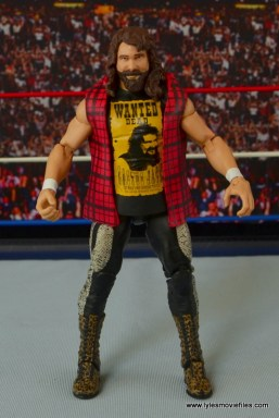 WWE Elite 48 Cactus Jack figure review -flannel shirt front