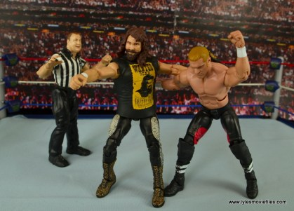 WWE Elite 48 Cactus Jack figure review -grabbing Triple H