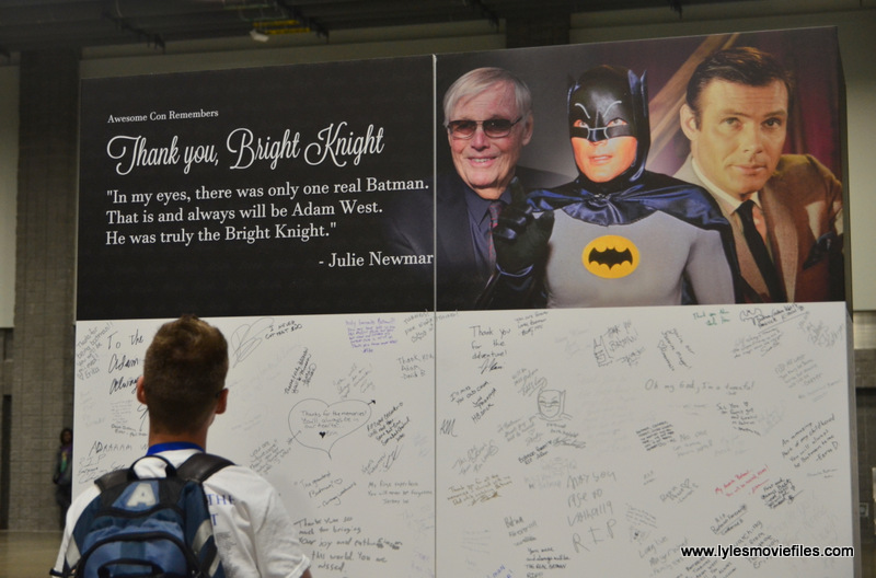 Awesome Con 2017 Adam West wall