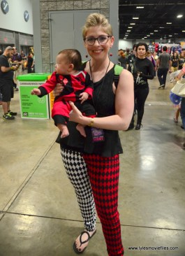 Awesome Con 2017 Day 2 cosplay - Baby Harley and Mama Harley Quinn