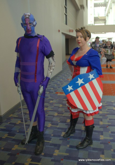 Awesome Con 2017 cosplay Friday -Nebula and Captain America