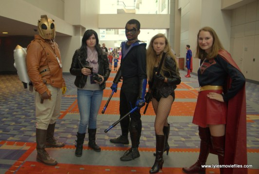 Awesome Con 2017 cosplay Friday -The Rocketeer, Jessica Jones, Nightwing, Black Canary and Supergirl