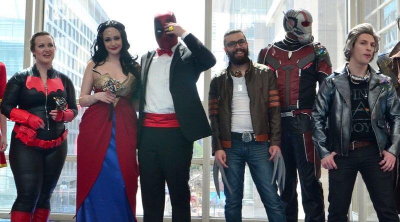 Awesome Con 2017 sights Wonder Woman married Deadpool