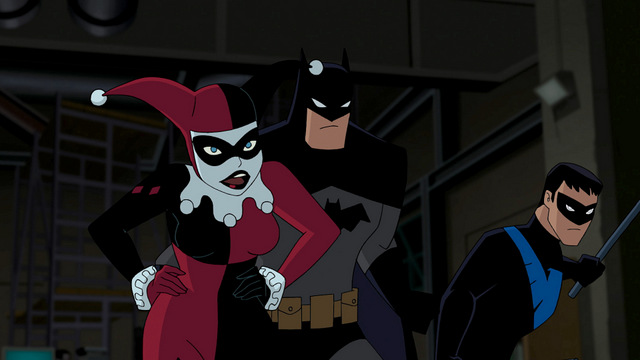 Batman and Harley Quinn and Nightwing