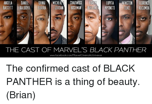 Black Panther cast love