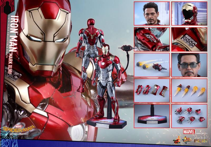 Hot Toys Iron Man Mark 47 figure - collage