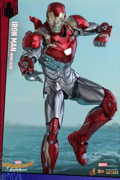 Hot Toys Iron Man Mark 47 figure - lit up
