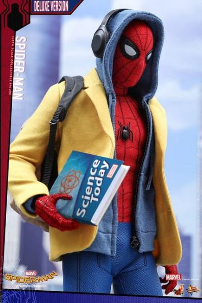 Hot Toys Spider-Man Homecoming figure - hoodie and blazer on