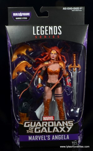 Marvel Legends Angela figure review - package front