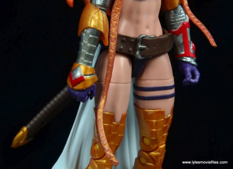 Marvel Legends Angela figure review -right side detail