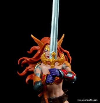 Marvel Legends Angela figure review -sword detail