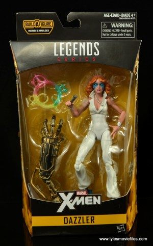 Marvel Legends Dazzler figure review - front package